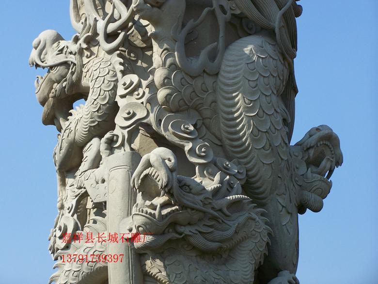 广场大殿石雕龙柱