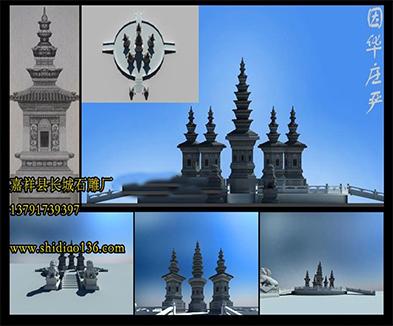 佛教石塔寺院佛塔的造型样式图片