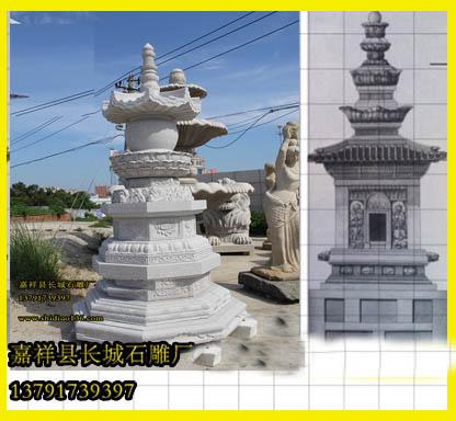 石雕佛塔佛教石塔的设计图和制作