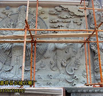 寺院浮雕观音佛像照壁雕刻研究
