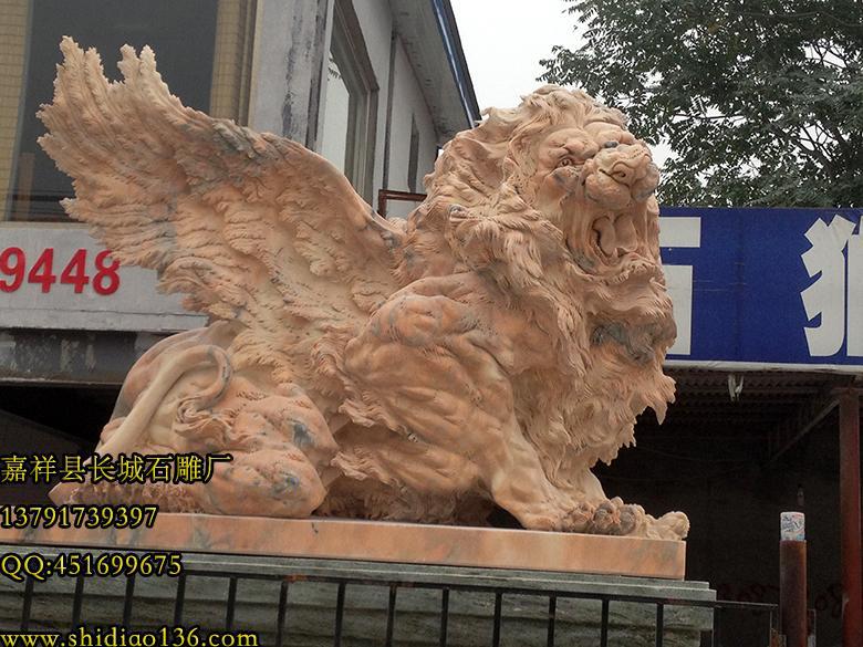 晚霞红雄狮,仿真狮子