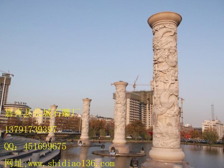 广场石雕龙柱