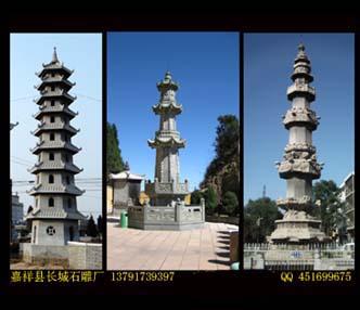 寺院石幢-石雕经幢设计图