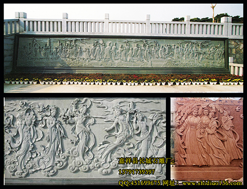 大型浮雕人物-寺院八十七神仙卷