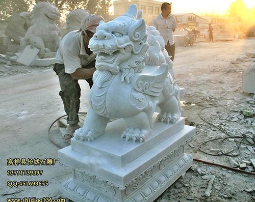 汉白玉貔貅石雕的制作的四大要点是什么