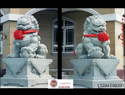 威武的汉唐风格石雕狮子雕刻