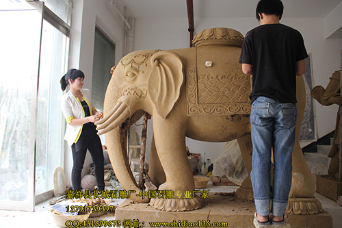 在石雕大象里面所蕴含的吉祥寓意