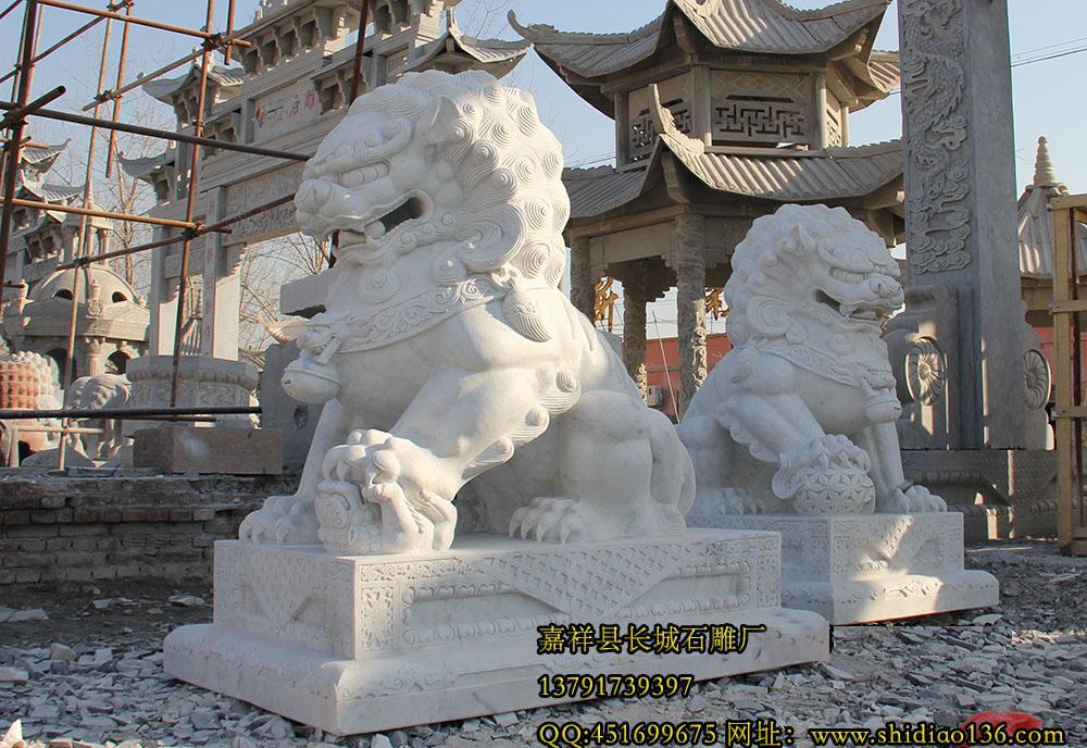 汉白玉石雕狮子