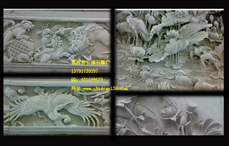 从浮雕仙鹤狮子雕刻探讨浮雕设计创作
