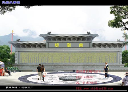 寺观影壁石雕-照壁雕刻及文化特征