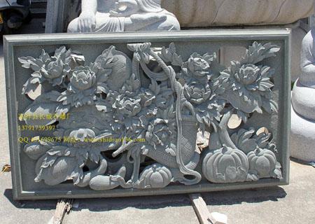 浮雕牡丹图案的象征意义