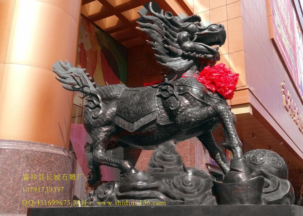 """麒麟,亦作""""骐麟"""",是中国古代传说中的一种动物,与凤,龟,龙共称为""""四灵"""