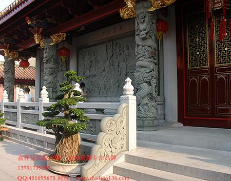 嘉祥石雕龙柱石栏杆照壁雕刻的样式图片
