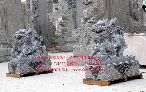 石雕手艺人_讲解麒麟怎么摆放才可以聚财呢