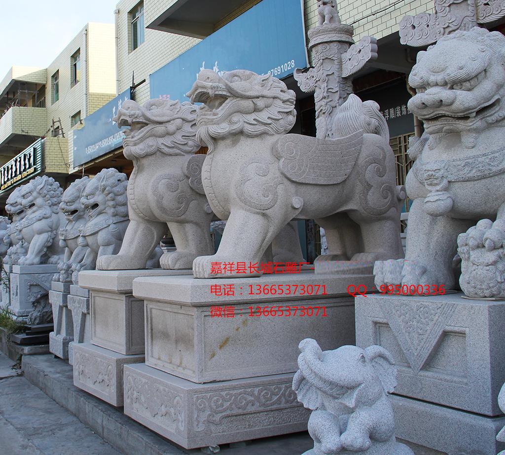 石雕貔貅雕刻样式图片,聚财貔貅