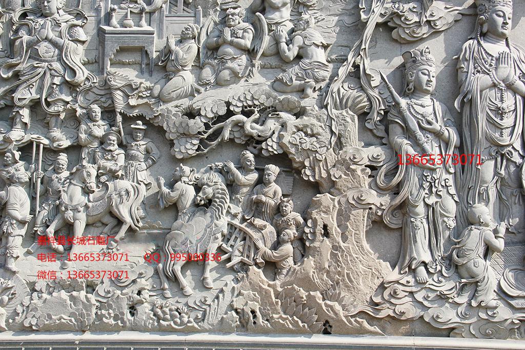 寺院浮雕照壁效果图