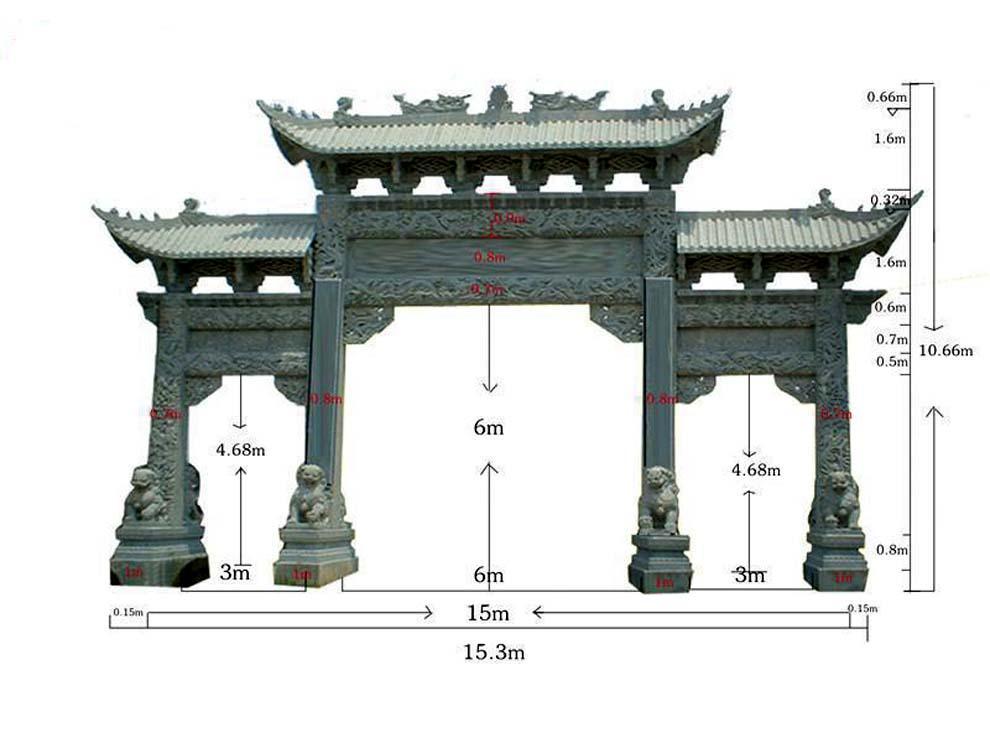 发布时间:2016-12-16 20:26:47 阅读:787 石牌楼也就是石雕牌坊,是古代最常见的建筑,在今天石雕牌坊也是一种标志性建筑,这种建筑样式是汉族独有的,最早是周朝的创造。木牌坊在古代在民间最为多见,琉璃牌坊多建于皇宫园林和繁华闹市,此外还有铜牌坊、瓦制牌坊。而石雕与牌坊形式结合,创造出了石牌坊建筑。21世纪,石牌坊成为了石雕牌坊类型的主流,给人们带来了视觉上和心灵上的享受。  商业街牌坊 现如今,我们在商业街都可以看到一些石牌楼。它们一般位于商业街道的入口处,只要人们来到这里,看到牌坊,就知