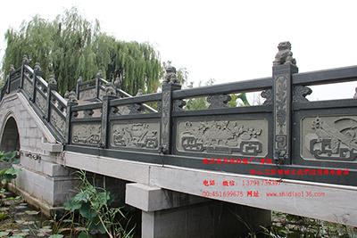 河道桥面石栏杆精美雕刻
