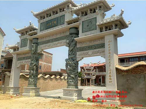 济宁石牌坊厂制作的精雕石雕山门