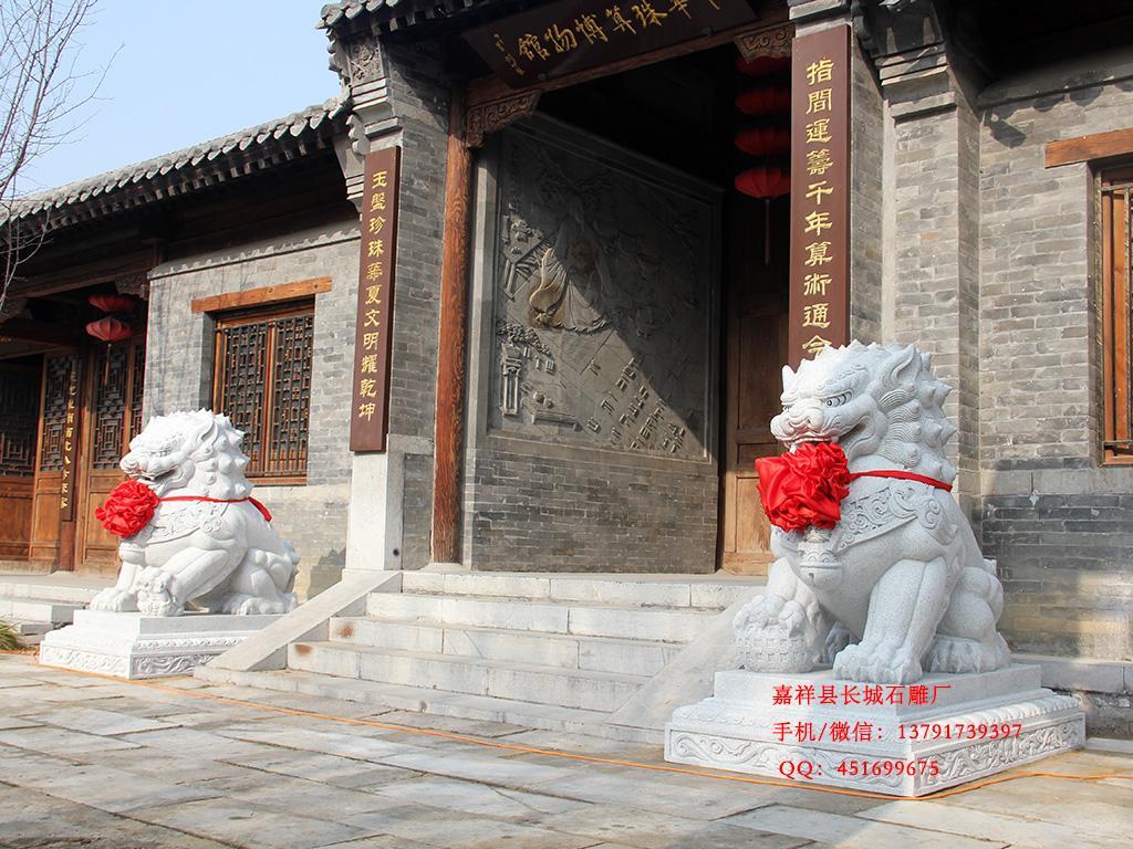 长城石雕厂为你讲解石狮子价格的高低图片