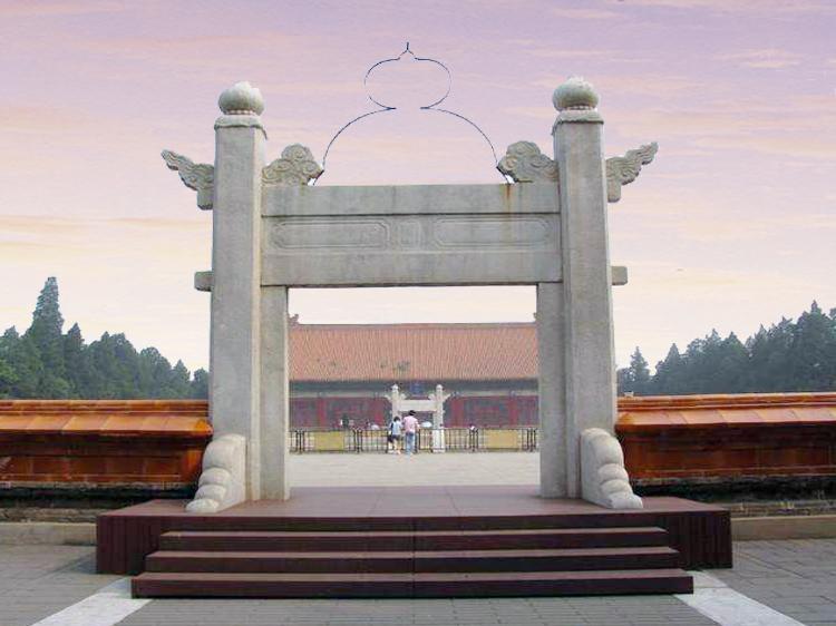 北京中山公园的社稷坛的棂星门