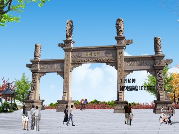 石牌坊制作厂家_长城石雕厂一直用心雕刻最好的石牌坊