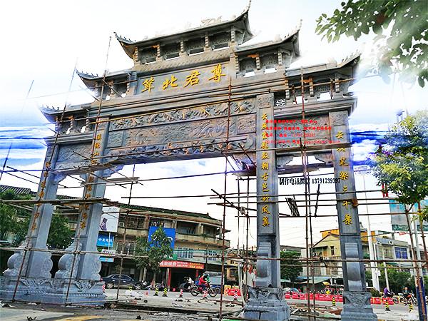 广州石牌坊农村门楼雕刻制作-最用心的厂家