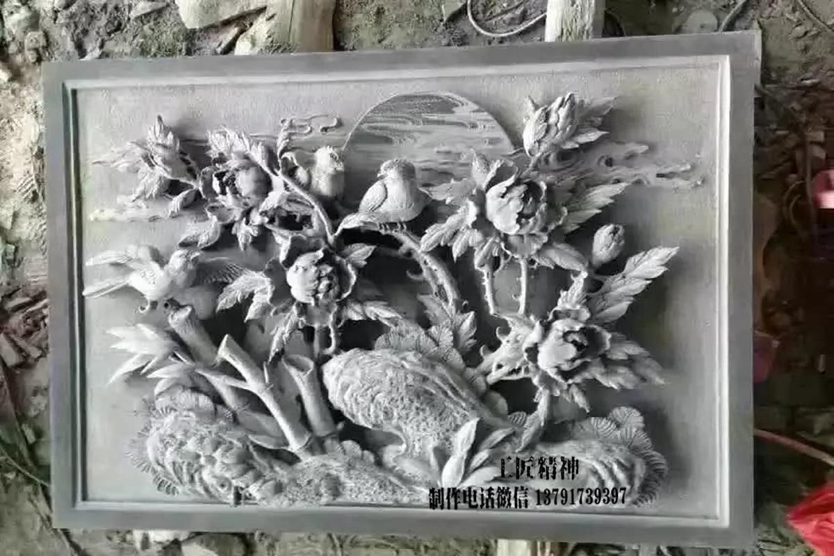 浮雕花鸟图片