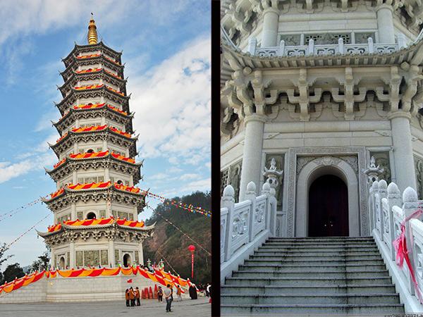 石塔结构和佛塔浮雕设计制作