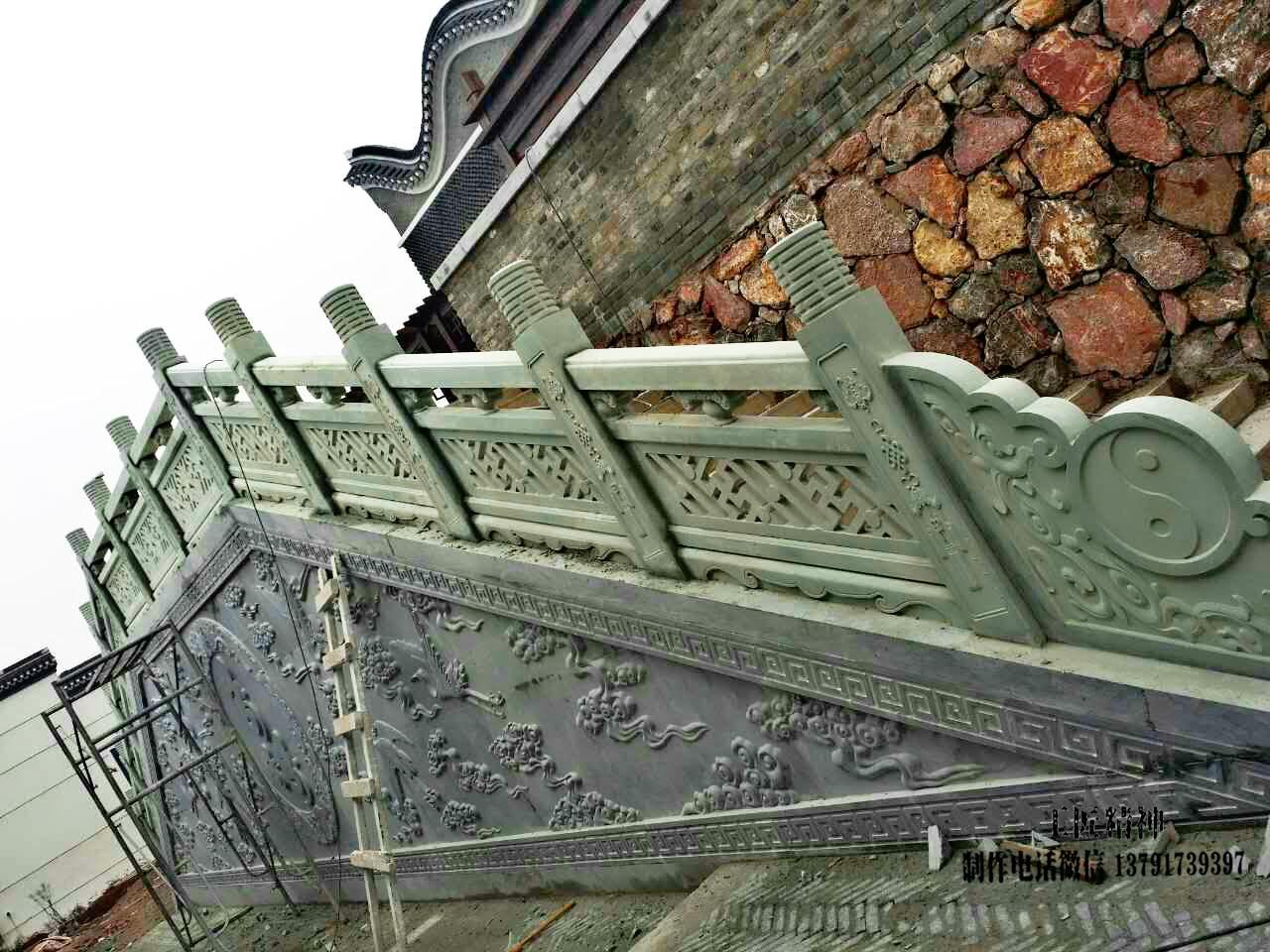 道观石雕栏杆图片