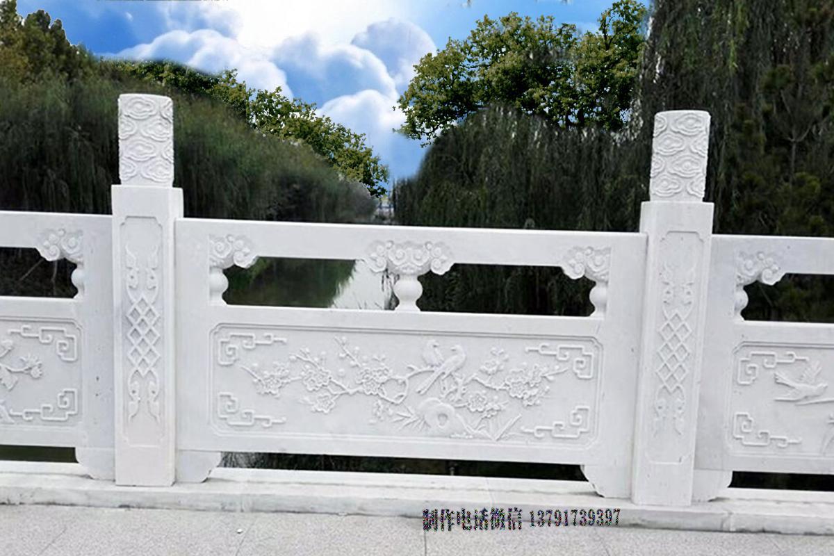 汉白玉石材栏杆图片