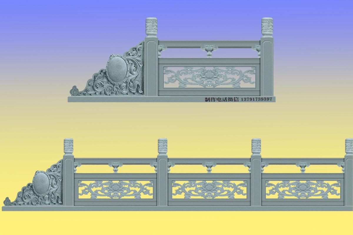 镂空浮雕石材栏杆雕刻图片