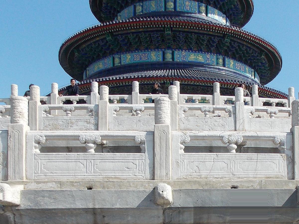 北京天坛栏杆雕刻图片
