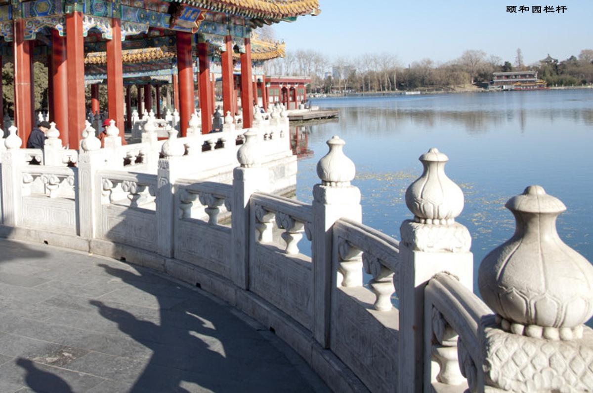 颐和园桥栏杆雕刻图片