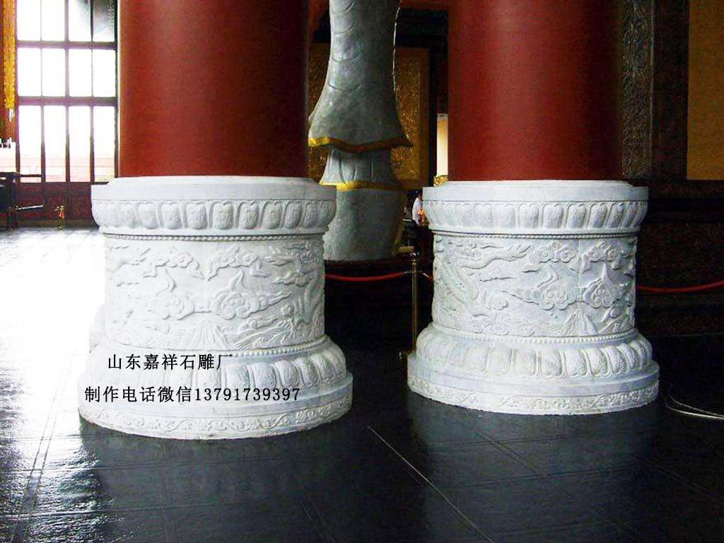 汉白玉石柱墩图片柱顶石样式